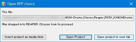 プロジェクトファイル読み込み時にファイルが見つからない場合の選択画面