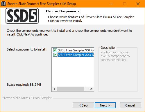 ディスクを節約したいとかの事情がない限り、VSTとAAXの両方入れておくのが無難でしょう