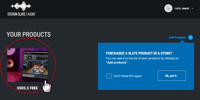 SSD5.5 FREEをクリック