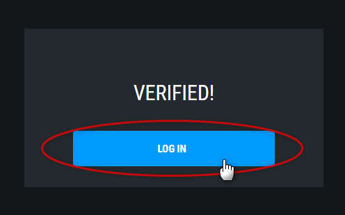 「LOG IN」をクリック