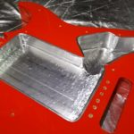 側面にも両面導電性アルミテープを貼ってほぼ完成した図