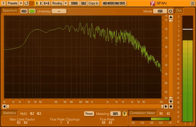 加工前:リアピックアップ 開放弦かき鳴らし